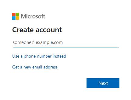 Create OneDrive account Step 3
