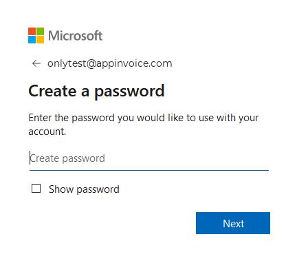 Create OneDrive account Step 4