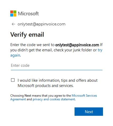 Create OneDrive account Step 6